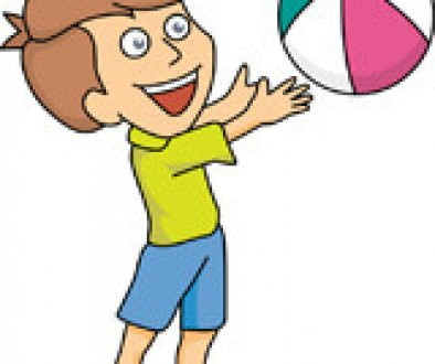 Playing with Beach Ball